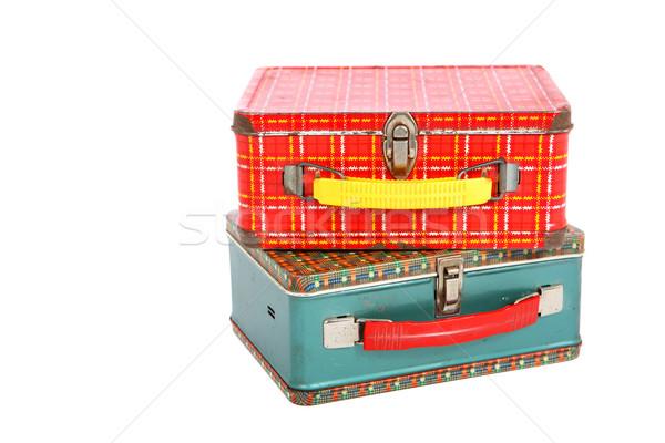 Klasszikus ebéd dobozok kettő fém egy Stock fotó © soupstock