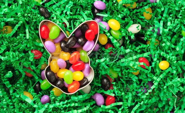 Jelly beans in a easter cookie cutter Stock photo © soupstock