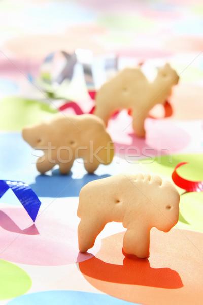 Animal Crackers on a festive background Stock photo © soupstock