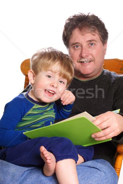Padre giovani figlio famiglia ragazzo lettura Foto d'archivio © soupstock