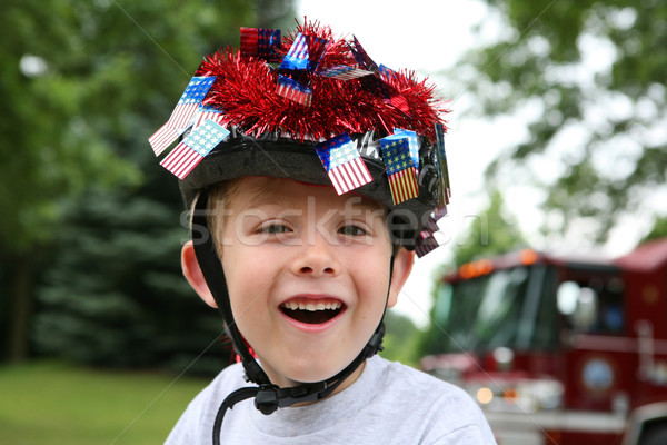 Boy dressed up for a 4th of July Parade Stock photo © soupstock