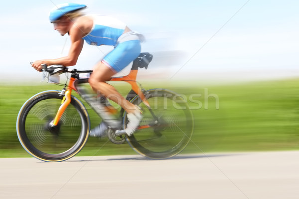 Racing bicycle, motion blur Stock photo © soupstock