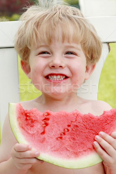 Happiness is a slice of watermelon Stock photo © soupstock