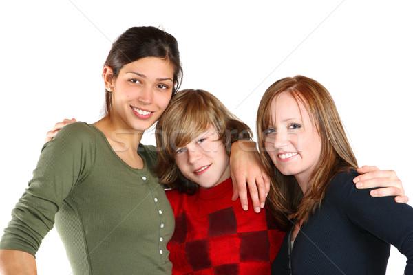 Adolescente amici tre giovani ragazza Foto d'archivio © soupstock