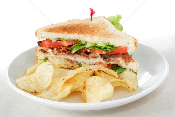 ベーコン レタス トマト サンドイッチ 焼いた ストックフォト © soupstock