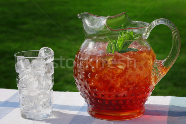 Pitcher of Iced Tea Stock photo © soupstock