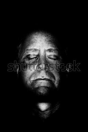 Vesztes férfi sötét kép fekete szem Stock fotó © soupstock