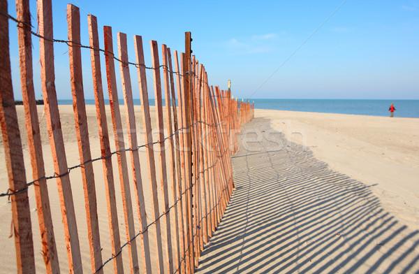 Fence on the beach Stock photo © soupstock