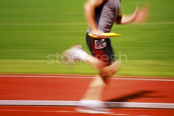Uruchomiony runner wyścigu następny sportu Zdjęcia stock © soupstock