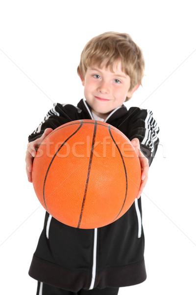 Ragazzo basket fitness kid Foto d'archivio © soupstock