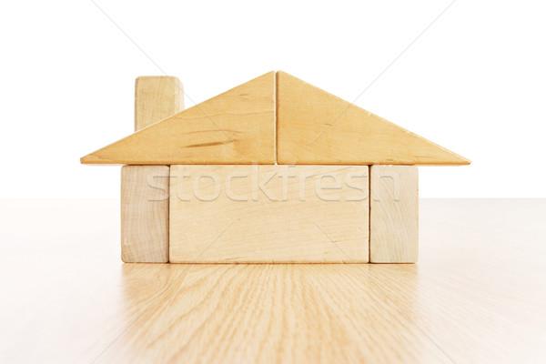 Foto d'archivio: Casa · blocchi · costruzione · legno · costruzione · design