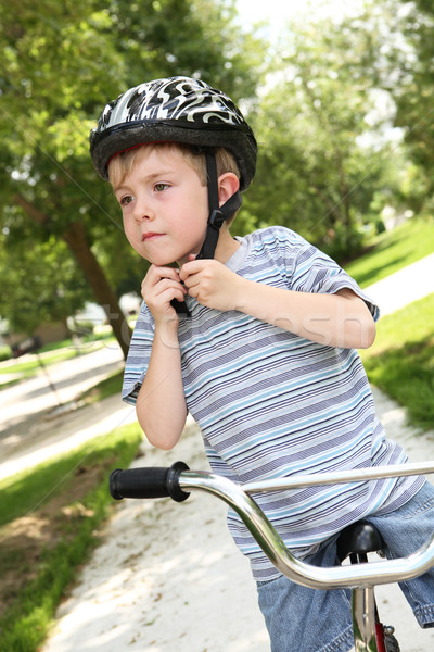 Fiets helm klaar fitness Stockfoto © soupstock