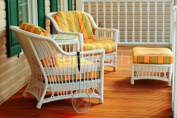 Comfortabel plek badminton racket stoel Stockfoto © soupstock