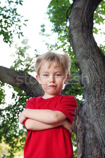 Esterna natura ritratto ragazzo divertente Foto d'archivio © soupstock
