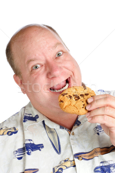 Happiness is a chocolate chip cookie Stock photo © soupstock
