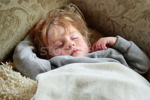 Alszik fiú fiatal srác arc haj fiatal Stock fotó © soupstock