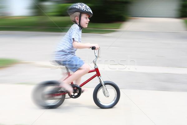 Stok fotoğraf: Binicilik · bisiklet · bisiklet · gülümseme