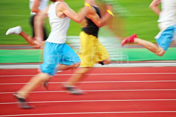Running the race (motion blur) Stock photo © soupstock