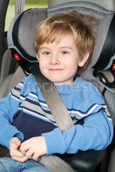 Leeftijd jongen booster zitting Stockfoto © soupstock