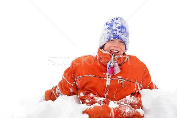 Giocare giorno natura bambino inverno Foto d'archivio © soupstock