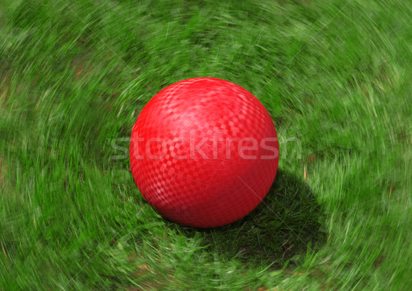 Red Playground Ball Stock photo © soupstock