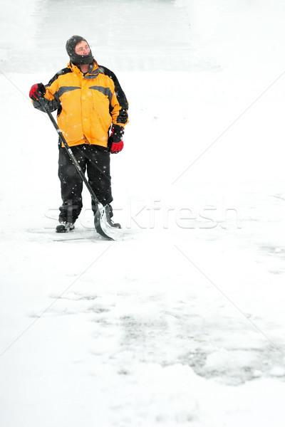 Man shoveling snow Stock photo © soupstock