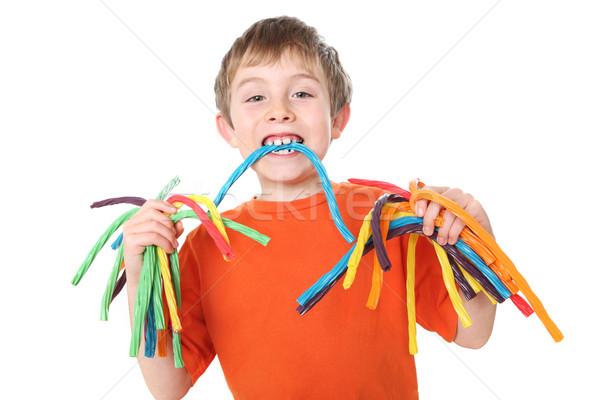 Ragazzo colorato candy mani Foto d'archivio © soupstock