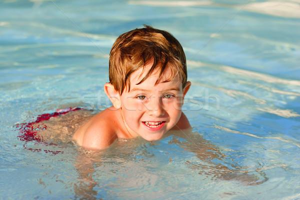 Ragazzo piscina felice estate giovani Foto d'archivio © soupstock