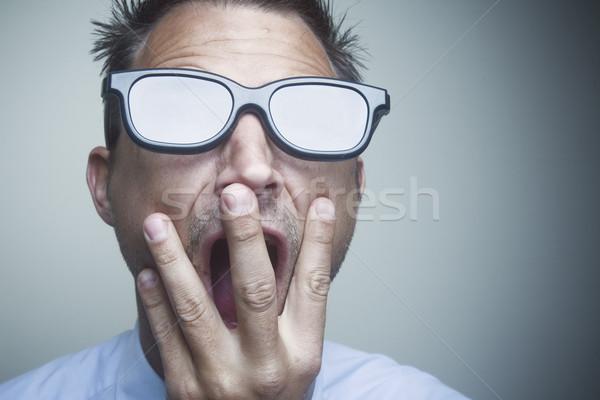 ビジネスマン 眼鏡 着用 黒 レンズ 白 ストックフォト © spanishalex