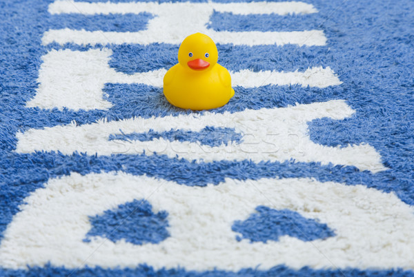 Rubber Duckie on Bathmat Stock photo © spanishalex