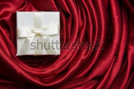 Trois blanche coffrets cadeaux cadeau caleçon rouge Photo stock © spanishalex