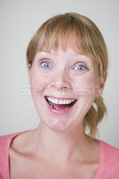 笑顔の女性 肖像 女性 笑顔 ピンク ストックフォト © spanishalex