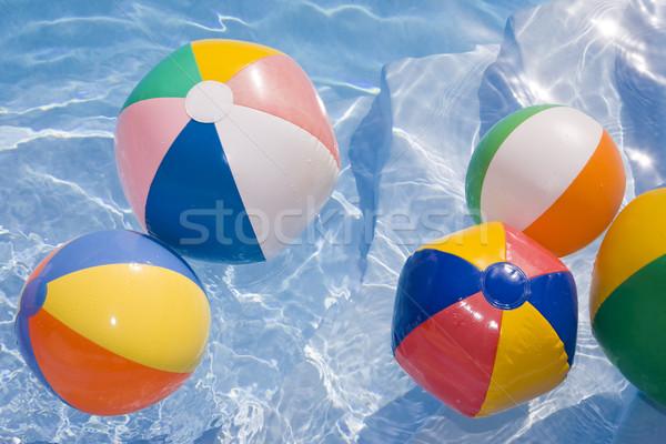 Beachballs in Pool Stock photo © spanishalex