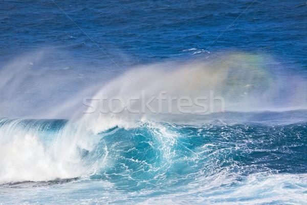 海の波 巨大な 波 いい 管 虹 ストックフォト © spanishalex