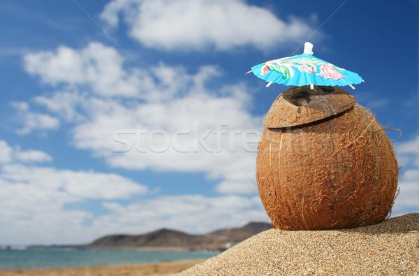 ビーチ カクテル ココナッツ 熱帯ビーチ 海 フルーツ ストックフォト © spanishalex
