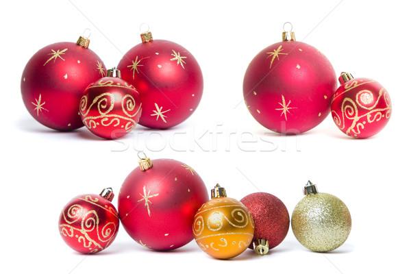 クリスマス 安物の宝石 静物 ボール 金 休日 ストックフォト © spanishalex