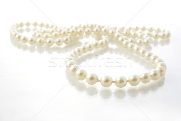 Chaîne perles pâle anniversaire présents bijou Photo stock © spanishalex