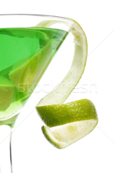 Cocktail chaux vert martini tropicales Photo stock © spanishalex