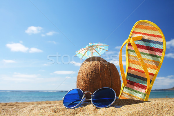 Summer Beach Scene Stock photo © spanishalex