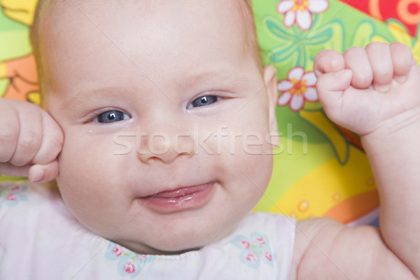 赤ちゃん 肖像 3  月 古い 笑みを浮かべて ストックフォト © spanishalex