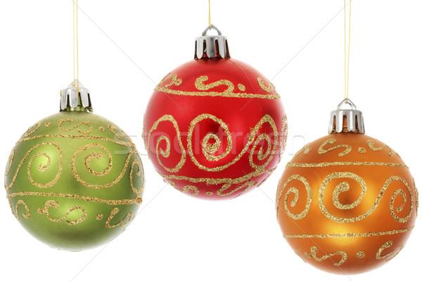 3  クリスマス 絞首刑 白 パーティ 緑 ストックフォト © spanishalex