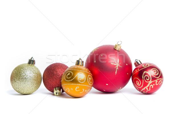 クリスマス 安物の宝石 静物 白 ボール 金 ストックフォト © spanishalex