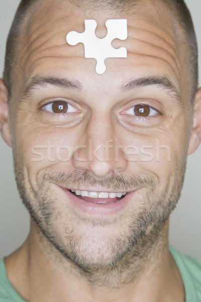 Idée homme coup pièce coincé Photo stock © spanishalex