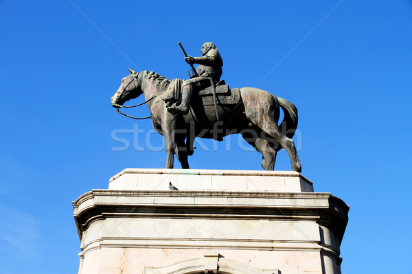 Heykel genel Montevideo Uruguay mavi tarih Stok fotoğraf © Spectral