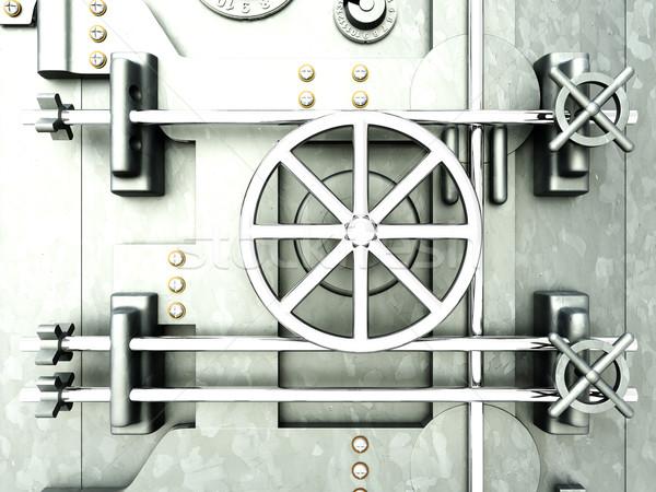 Agykoponya bank széf 3D renderelt illusztráció Stock fotó © Spectral
