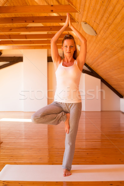 Woman practicing Yoga in a Studio Stock photo © Spectral