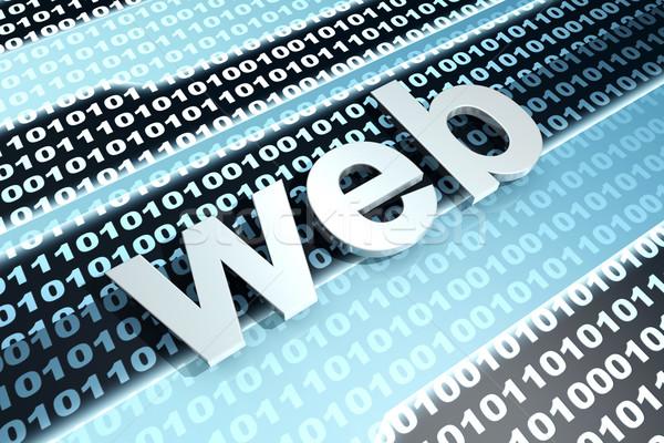 Web dijital ikili kod 3d illustration bilgisayar teknoloji Stok fotoğraf © Spectral