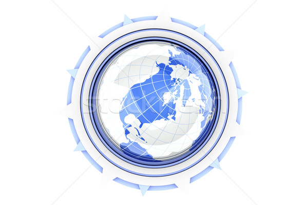 Pusula soyut global 3D render örnek Stok fotoğraf © Spectral