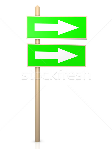 Poste indicador 3D prestados ilustración aislado blanco Foto stock © Spectral