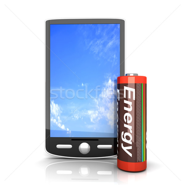 смартфон батареи общий 3D оказанный иллюстрация Сток-фото © Spectral